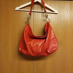 Handbags - Shoulder bag with silver hardware.